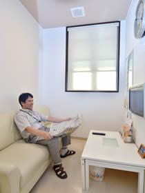 内視鏡検査 控室